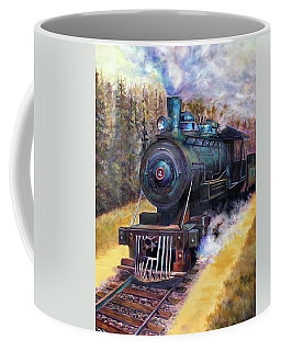 Steam Through The Pines Coffee Mug