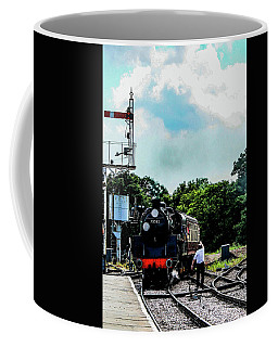 Steam Train Approaching Coffee Mug