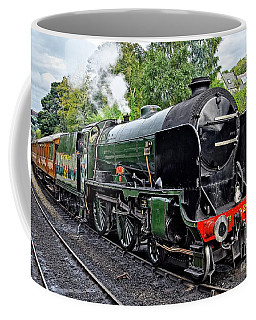 Steam Train On North York Moors Railway Coffee Mug