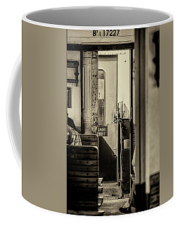 Coffee Mug featuring the photograph Steam Train Series No 33 by Clare Bambers