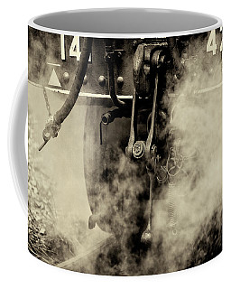 Coffee Mug featuring the photograph Steam Train Series No 4 by Clare Bambers