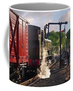Steam Train Taking On Water Coffee Mug by Gill Billington