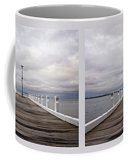 Coffee Mug featuring the photograph Steampacket Quay by Linda Lees