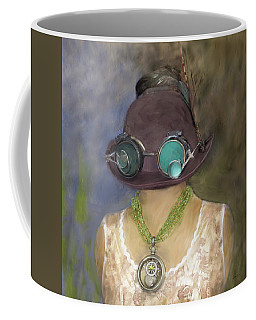 Steampunk Beauty With Hat And Goggles - Square Coffee Mug
