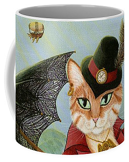 Steampunk Cat Gal - Victorian Cat Coffee Mug