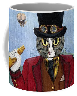 Steampunk Cat Guy - Victorian Cat Coffee Mug