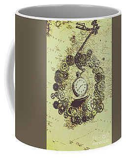Steampunk Travel Map Coffee Mug