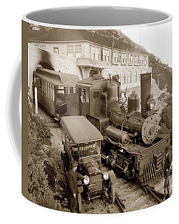 Stean Engine No. 8 Mount Tamalpais Circa 1920 Coffee Mug