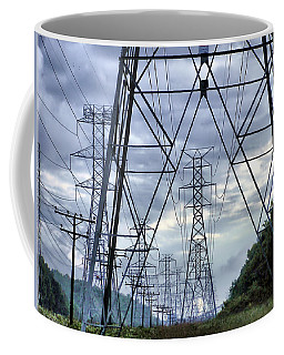 Coffee Mug featuring the photograph Steel Soldiers Marching To The Sea by Brian Wallace