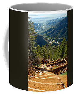 Steep Manitou Incline And Barr Trail Coffee Mug