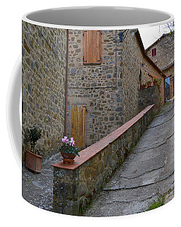 Steep Street In Montalcino Italy Coffee Mug