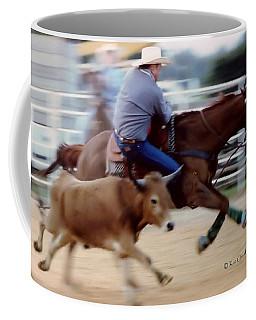 Steer Wrestling Dilemma Coffee Mug