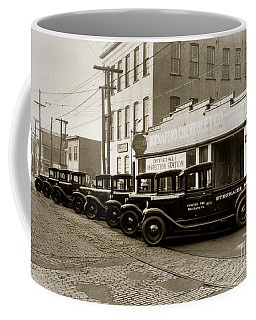 Stegmaier Brothers Inc Beer Trucks At 693 Hazle Ave Wilkes Barre Pa 1930s Coffee Mug