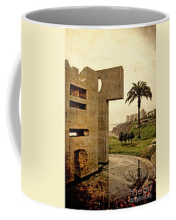 Coffee Mug featuring the photograph Stelae In The Park - Miraflores Peru by Mary Machare
