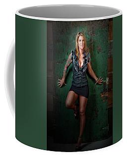 Stephanie Green Door Coffee Mug