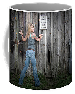 Stephanie Guitar Barnwood Coffee Mug