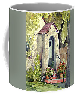 Coffee Mug featuring the painting Stephanie's Porch by Sam Sidders
