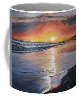 Coffee Mug featuring the painting Stephanie's Sunset by Donna Tuten