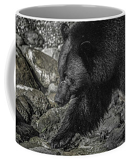 Stepping Into The Creek Black Bear Coffee Mug