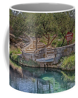 Coffee Mug featuring the photograph Steps Leading To The Blue Hole by Sue Smith