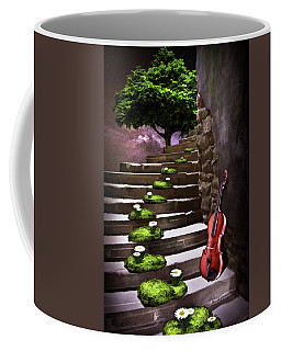 Steps Of Happiness Coffee Mug by Mihaela Pater