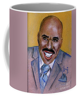 Coffee Mug featuring the drawing Steve Harvey by P J Lewis
