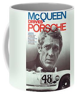 Steve Mcqueen Drives Porsche Coffee Mug