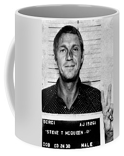 Steve Mcqueen Mug Shot Vertical Coffee Mug by Tony Rubino