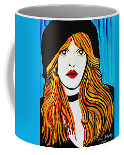Coffee Mug featuring the painting Stevie by Nora Shepley