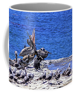 Pelican Sticking His Neck Out Coffee Mug