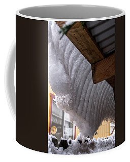 Sticky Lazy Snow Coffee Mug by Mick Anderson