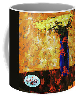 Coffee Mug featuring the painting Still Life. Cherries For The Queen by Anastasija Kraineva
