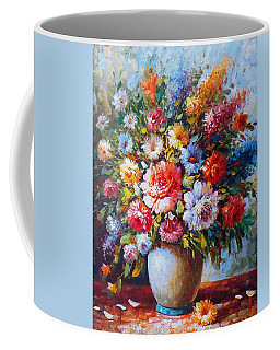 Still Life Colourful Flowers In Bloom Coffee Mug