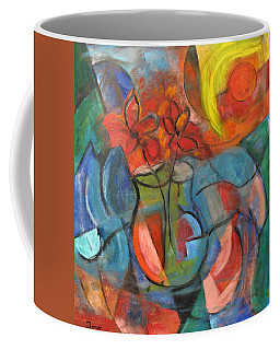Still Life-flowers With Fruit Coffee Mug