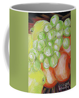 Still Life. Grapes. Fruits.  Coffee Mug