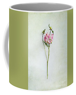 Still Life Of A Peony With Texture Overlay Coffee Mug