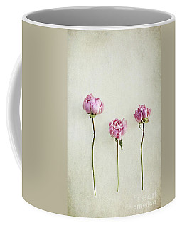 Still Life Of Dried Peonies With Texture Overlay Coffee Mug