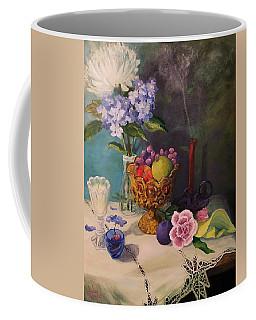Still Life On Lace Coffee Mug