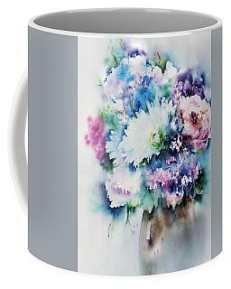 Still Life Rose Bouquet Watercolour Coffee Mug