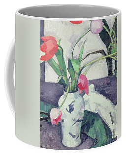 Still Life  Tulips In A Chinese Vase Coffee Mug
