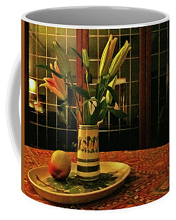 Coffee Mug featuring the photograph Still Life With Apple by Anne Kotan