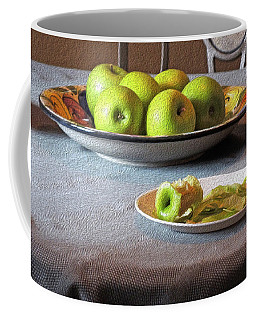 Still Life With Apples And Chair Coffee Mug