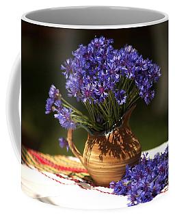 Still Life With Blue Flowers Coffee Mug