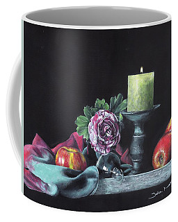 Still Life With Candle Coffee Mug