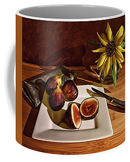 Still Life With Flower And Figs Coffee Mug