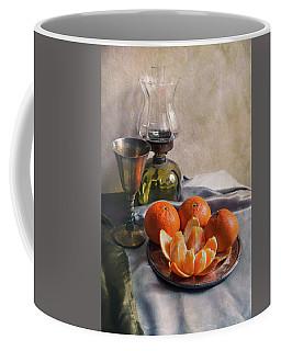 Still Life With Fresh Tangerines And Oil Lamp Coffee Mug by Jaroslaw Blaminsky