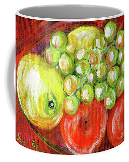 Still Life With Fruit. Painting Coffee Mug