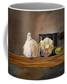 Still Life With Garlic And Olive Coffee Mug