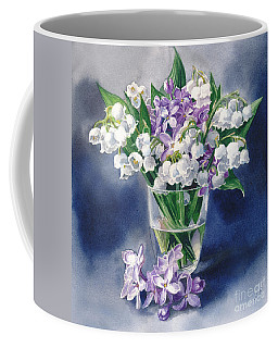 Still Life With Lilacs And Lilies Of The Valley Coffee Mug