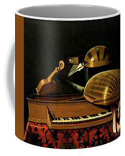 Still Life With Musical Instruments And Books Coffee Mug